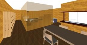 間伐材ブロックを用いた住空間の間仕切り壁の設計